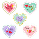 Mother`s day hearts Stock Photo