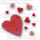Mother's Day Hearts Collage Royalty Free Stock Photos