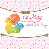 Mother's Day. And her child on beuatiful background Royalty Free Stock Photo