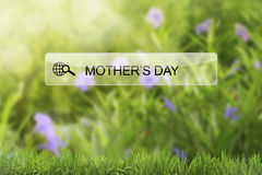 Mother`s day keyword on virtual screen browser Royalty Free Stock Images