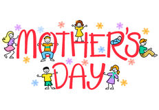 Mother's Day Kids/eps Stock Photography