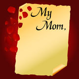 Mother's day letter vector Royalty Free Stock Photos