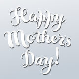 Mother`s day lettering Stock Photos
