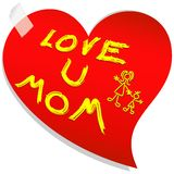 Mother's Day Love Message Royalty Free Stock Image