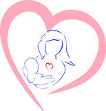 Mother's Day. Love of mother to the child Royalty Free Stock Photos