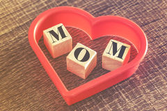 Mother's Day message Stock Images