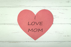 Mother's Day. Paper Heart for Mother's Day Stock Image