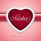 Mother's day postcard Royalty Free Stock Images