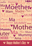 Mother's Day poster. A cheerful Mother's Day poster with words for mother in a variety of languages. Also in vector format vector illustration