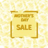 Mother s day sale card with carnation flowers. Stock Photography