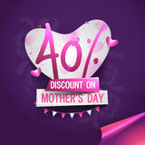 Mother's Day Sale Poster, Banner or Flyer. Royalty Free Stock Images