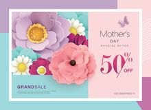 Mother`s day sale poster Stock Image