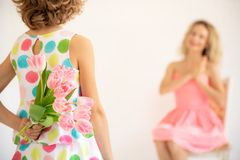 Mother`s day spring holiday concept stock photo