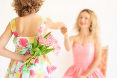 Mother`s day spring holiday concept royalty free stock images