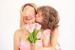 Mother`s day spring holiday concept royalty free stock photography
