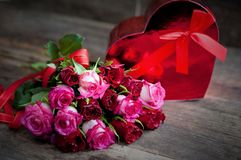 Red roses for the holiday of love and happiness