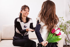 Mother's day surprise Royalty Free Stock Image