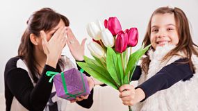 Mother's day surprise Royalty Free Stock Photos