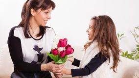 Mother's day surprise Royalty Free Stock Images