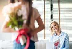 Mother`s day, Surprise stock image