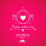 Mother's day text design Royalty Free Stock Photos
