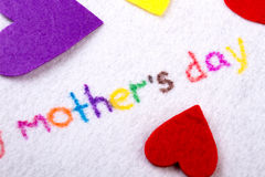 Mother`s Day title. Royalty Free Stock Images