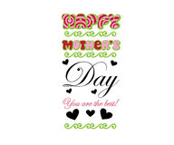 Mothers Day Typography Design Stock Photography