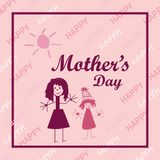 Mother`s Day vector card. Perfect for prints,flyers,banners, invitations, promotions and more. stock illustration