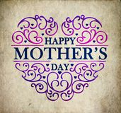 Mother s day vintage poster floral illustration Stock Photography