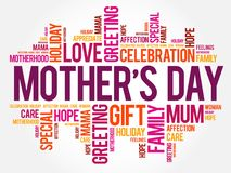 Mother`s Day word cloud, care, love, family Royalty Free Stock Photography
