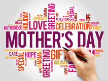 Mother's Day word cloud, care, love, family Stock Photos