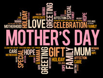 Mother`s Day word cloud, care, love Royalty Free Stock Photo