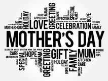 Mother`s Day word cloud Royalty Free Stock Images