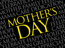 Mother`s Day word cloud Royalty Free Stock Photos