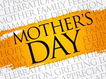 Mother`s Day word cloud. Care, love, family, motherhood concept Royalty Free Stock Photography