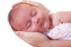 In mother's hands Royalty Free Stock Image