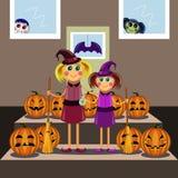 Mother's helper. Halloween Royalty Free Stock Photo