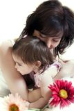 Mother's hugs Royalty Free Stock Photography