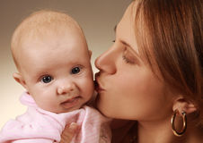 Mother S Kiss Stock Photography