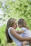 Mother's Kiss Royalty Free Stock Photos
