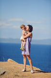 Mother's Kiss Royalty Free Stock Photography