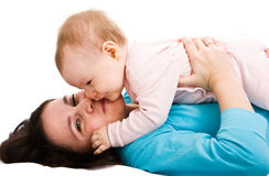 Mother's love. Cute little baby with mother Stock Photos