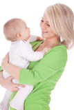 Mother's love. Cute baby 7  month boy with mother Stock Photography