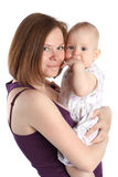Mother's love. Baby with mother Stock Images