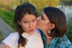 Mother's love. Whims of teen and mother's love Stock Photos
