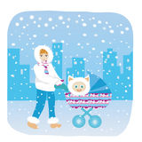 Mother's winter Royalty Free Stock Images