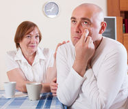 The mother says son. Royalty Free Stock Image
