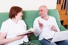 The mother says son. Royalty Free Stock Images