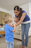 Mother scolding child Royalty Free Stock Photography