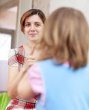 Mother scolds her child in home Royalty Free Stock Photo